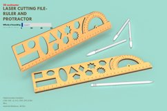 Ruler and Protractor- laser cutting file Product Image 2
