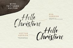 Hello Christine - SVG Font Product Image 2