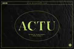 ACTU Typeface Product Image 1