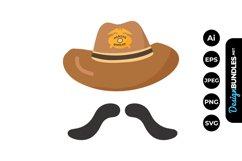 SheriffCowboy Hat Illustrations Product Image 1
