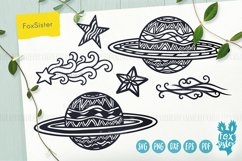 Planets Svg, Universe Svg, Space Svg, Pdf, Dxf, Png, Eps Product Image 1