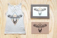 Textured moose in aztec style Product Image 2