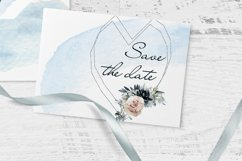 Bride watercolor heart clipart Product Image 3