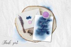 Indigo Watercolor Wedding Invitation suite Product Image 2