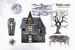 Vintage Halloween clipart Watercolor illustrations set Product Image 2