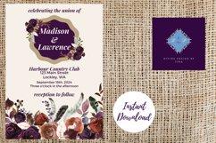 Plum and Beige Autumn Wedding Invitation Product Image 4