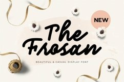 Web Font The Frosan Display Font Product Image 1