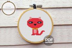 Cute Kitten Cross Stitch Pattern - Instant Download PDF Product Image 1