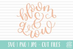 Bloom and Grow, Spring Garden SVG Cut File Product Image 4