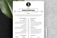 Clean Resume Cv Template in Editable Word Apple Pages Format Product Image 4