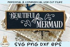 Beautiful Mermaid Salty Pirate Sign Bundle SVG Cut File Product Image 2