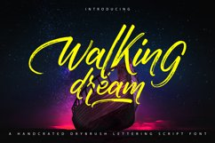 Walking Dream | A Handcrafted Drybrush Lettering Script Font Product Image 1