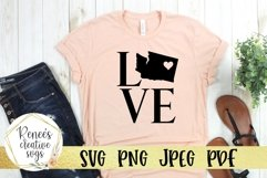 Washington love with heart | State SVG | SVG Cutting file Product Image 1