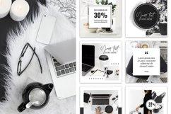 Canva Instagram Templates Black&White Product Image 6