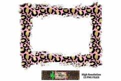 Leopard Grunge Background Frames for Dye Sublimation PNG Product Image 4