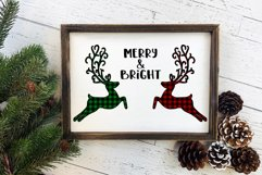 Merry and Bright Buffalo Plaid Reindeer Design Product Image 2