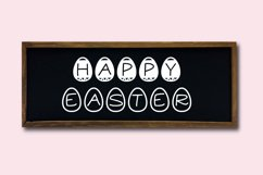 Easter Candy, a cute easter egg font in two styles Product Image 2