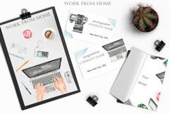 Work from home Watercolor clipart. Seamless patterns, frame Product Image 6