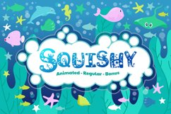 Beach Font | Summer Font - Squishy Font & Bonus Extras Product Image 1