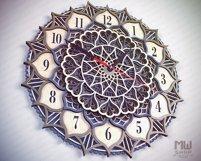 C18 - Laser Cut Wall Clock DXF, Mandala Clock, Wooden Clock Product Image 2