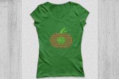 Thanksgiving Pumpkin Monogram SVG, Thanksgiving svg Polka. Product Image 3