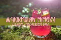 Web Font Watermelon Mimosa - A Quirky Handlettered Font Product Image 1