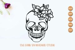 Skull With Flowers SVG Files Product Image 2