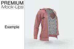 Women's Full-Zip Hoodie Mockup Product Image 3