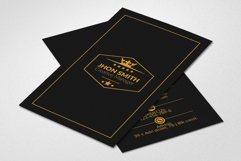 Vertical Black Business Cards Product Image 2