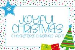 Joyful Christmas- A Hand-Lettered Christmas Font Product Image 1