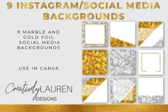 Marble and Gold Foil Instagram Template Pack Product Image 1