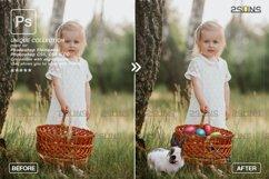 Photoshop overlay Easter bunny overlay Product Image 5