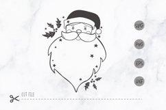 Santa face christmas svg / Santa Head SVG / christmas frame Product Image 1