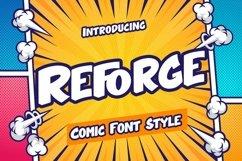 Web Font Reforge - Comic Style Font Product Image 1