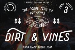 Dirt & Vines - A Gritty Adventure San-Serif Product Image 1