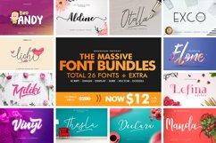 The Massive Font Bundles Product Image 1