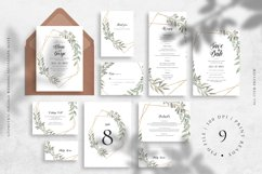 Geometric Foliage Wedding Invitation Suite Product Image 1