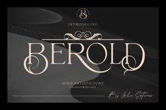 Berold - serif artistic font Product Image 1