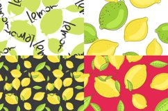 Lemon citrus pattern - set of 8 Product Image 4