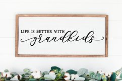 Life is better with grandkids - grandchildren svg png sign Product Image 1
