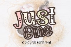 just One - 3 playful font Product Image 1