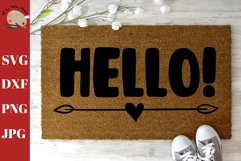 Hello Saying Doormat svg, DIY Welcome mat svg Product Image 1