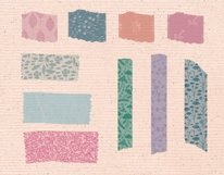 Washi Tapes and Paper Embellishments Procreate Brushes Product Image 2