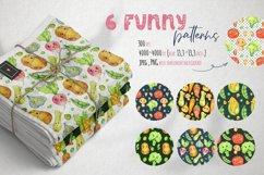 Cute vegetables clipart. Digital paper set Product Image 2