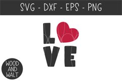 Love SVG   Valentine's Day Cut File Product Image 2
