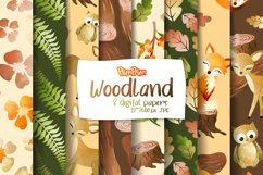 Woodland Digital Papers Product Image 1