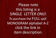 W Split monogram SVG Split letter svg Monogram font Product Image 6