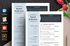 Professional Editable Resume Cv Template in Word Apple Pages Product Image 1