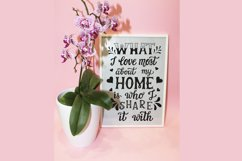 What I love most about my home... Hand lettering quote Product Image 2