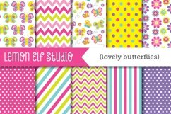 Lovely Butterflies-Digital Paper (LES.DP12) Product Image 1